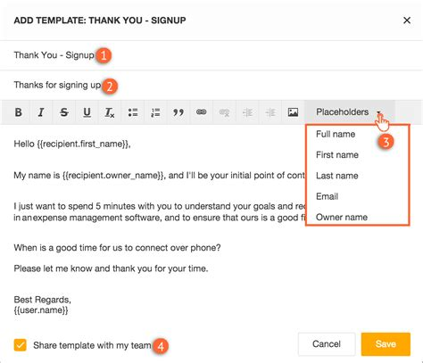 How To Create And Use Email Templates Freshsales Email Template