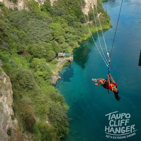 taupo bungy swing taupo bungy taupo cliffhanger solo one stop adventure tours