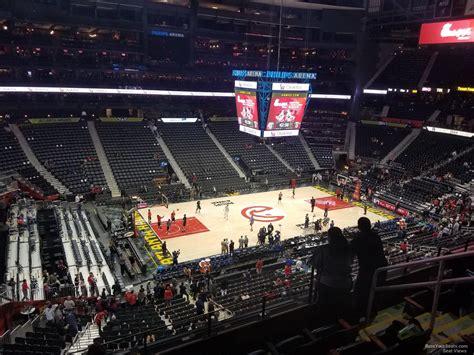 philips arena section 310 philips arena section 313 atlanta hawks rateyourseats com