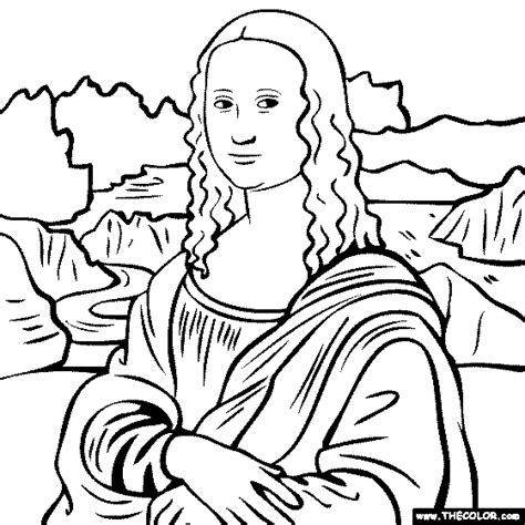 Mona Lisa Para Colorear Imagui Mona Coloring Pages