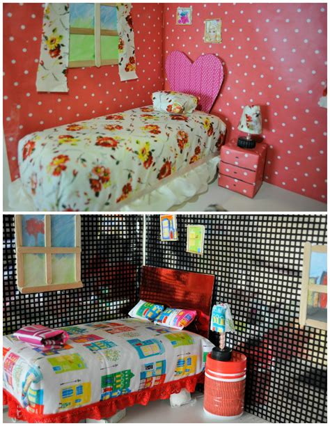 how to make a barbie bed diy barbie bed out of a shoebox or cereal box be a fun mum