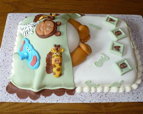 Zoo Baby Shower Ideas by Zoo Animals Baby Shower Cake Animal Cakes