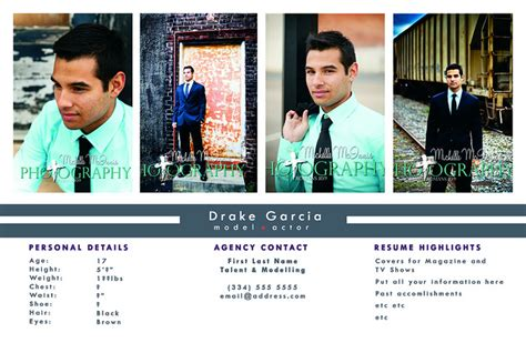 Actor Comp Card Templates by Comp Card Template E Commercewordpress