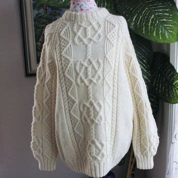Handmade Mens Sweaters - best aran knit sweater products on wanelo