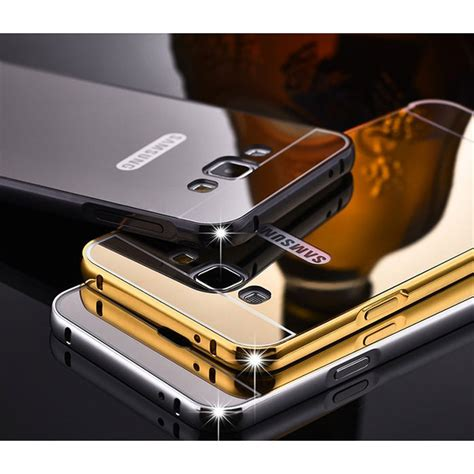 Harga Samsung J5 Wilayah Batam aluminium bumper with mirror back cover for samsung galaxy