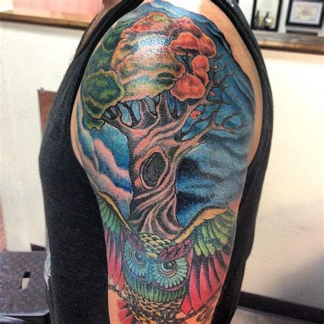 mint condition tattoo my owl tree sky artist mike romos mint