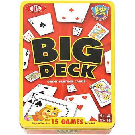 big deck cards walmart