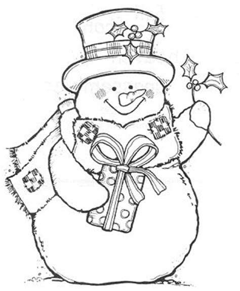 printable christmas cards to color for adults jolly snowman sts pinterest