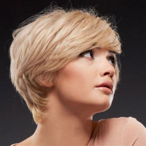 bobshortthinhair squareface short blonde hairstyles for square face with bangs cool