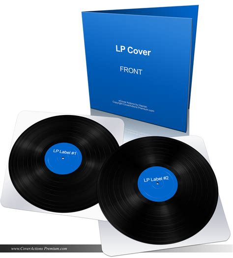 vinyl lp record gatefold mockup cover actions premium