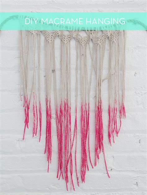 Make Macrame Wall Hangings - make it diy dipped macrame wall hanging curbly