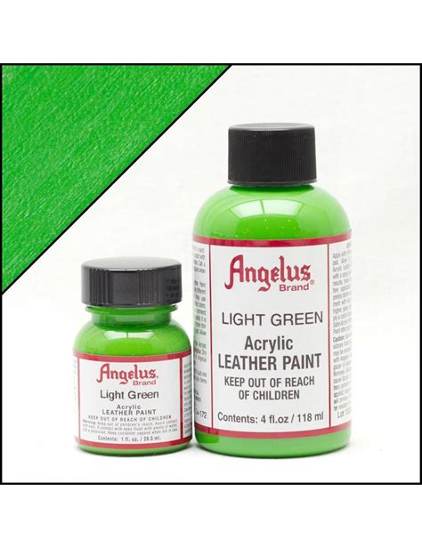 angelus paint light grey angelus dyes paint light green 1oz leather paint