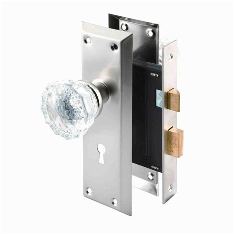 prime line single cylinder satin nickel mortise lock set