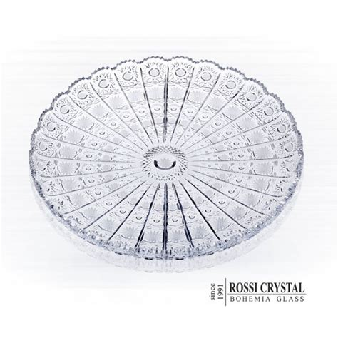 Home Design Dimensions Fine Cut Plate Round Traditional Cut Pk Rossi Crystal