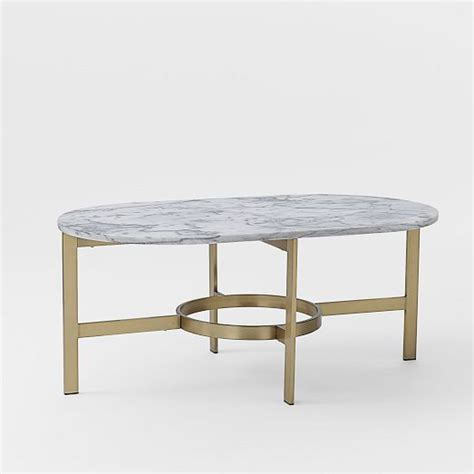 Brass And Marble Coffee Table Marble Oval Coffee Table With Antique Brass Base West Elm Coffeetable Marble Brass