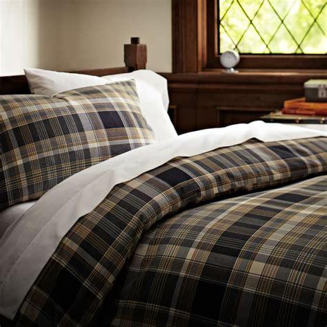 Plaid Duvet Cascade Plaid Duvet Cover Pillowcases Pbteen