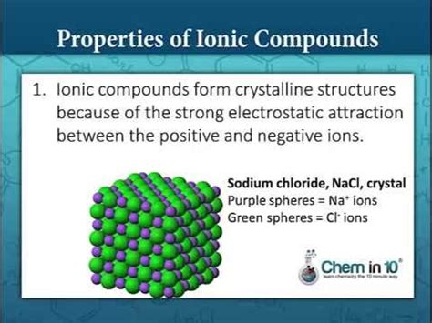 chemical bonds properties of ionic and covalent compounds