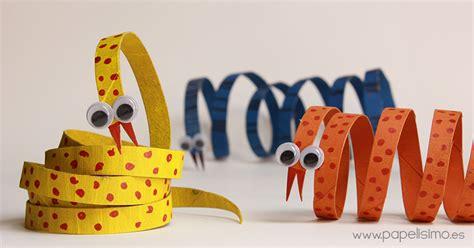 manualidades hechas con carton de animales serpiente animales con rollos de papel higi 233 nico papelisimo