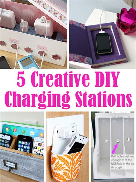 diy home charging station diy home sweet home 5 creative diy charging stations