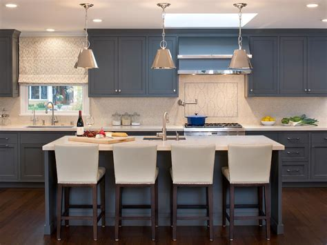 islands for kitchens with stools shaker kitchen cabinets pictures ideas tips from hgtv