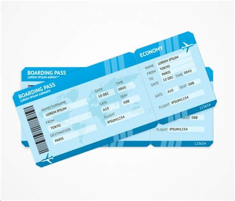 plane ticket airline tickets template design vector 02 vector free