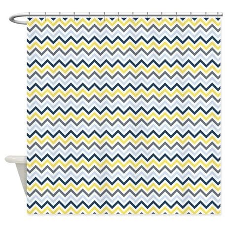 yellow and blue shower curtain blue yellow and white chevron shower curtain by zenchic