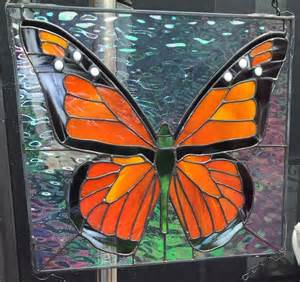 Monarch Butterfly Stained Glass Handmade Ebay