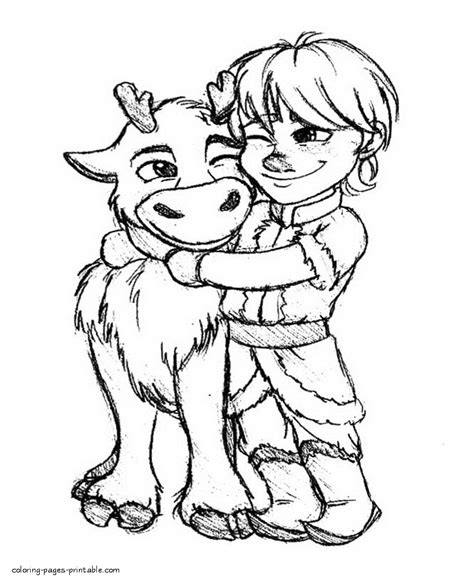coloring pages frozen sven frozen coloring book pages