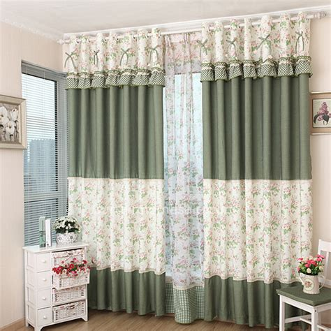 pattern window curtains window coverings curtains of floral and polka dot printed