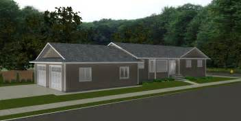 Attached Garage Plans Smalltowndjs Com Bungalow 2 Car Garage House Plans