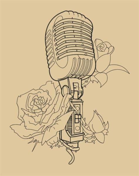 old microphone tattoo designs retro microphone radio tattoo pinterest my passion