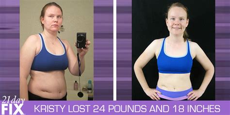 Results Transformation 21 Day Detox by 21 Day Fix Results Kristy Changed And Lost 24