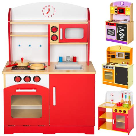 child kitchen wooden childrens kitchen pretend play cooking toys learner set new ebay