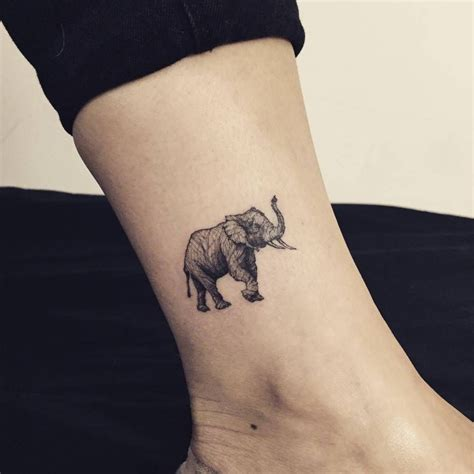 art tattoos for men elephant on the ankle artist