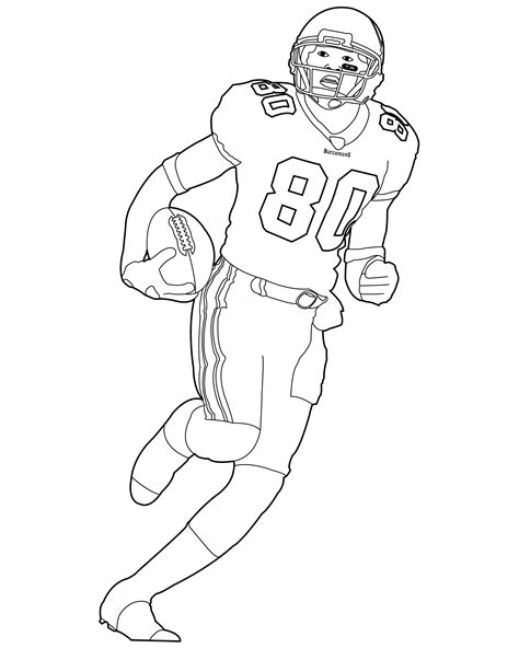 Nfl Football Player Coloring Pages football coloring pages bestofcoloring
