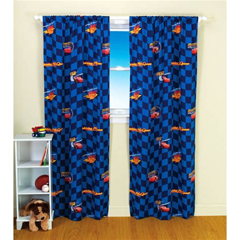 Disney Cars Bedroom Curtains | disney pixar cars pole top kids bedroom curtain panel
