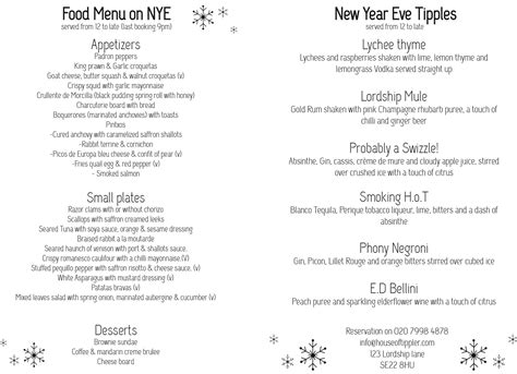 new year food list house of tippler east dulwich bar reviews