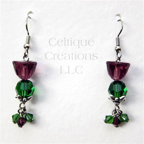 Scottish Handmade Jewellery - scottish thistle earrings handmade jewelry with