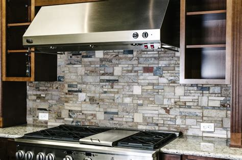 Kitchen Backsplashes With White Cabinets Gray Stone Tile Backsplash Decor Trends How To Install