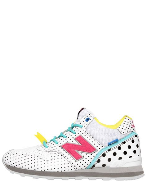 polka dot sneakers new balance 996 polka dot faux leather sneakers in white