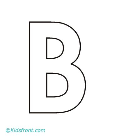 Alphabet B Coloring Pages Printable B Coloring Page