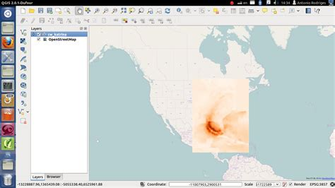qgis software tutorial open geotiff in quantum gis climate wikience climate