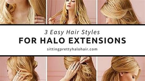 How To Do An Updo With Halo Extentions | 3 easy halo extension hairstyles sitting pretty halo