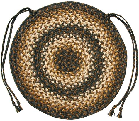 chair pads braided braided jute chair pads by homespice decor set of 4 15