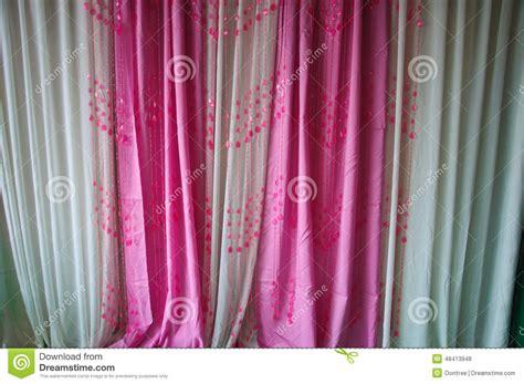 curtain scene wedding scene pink curtain beautiful background stock