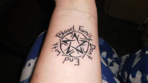 Family Don T End With Blood Tattoo   family don t end with blood by kittyloner on deviantart
