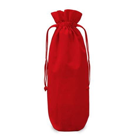 drawstring gift bags cotton drawstring bottle gift bag 17x37cm the clever baggers