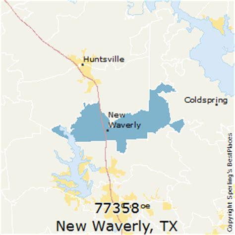 huntsville texas zip code map best places to live in new waverly zip 77358 texas