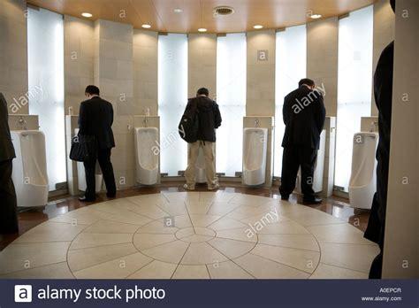 male public bathroom a fancy male public urinal toilet japan stock photo