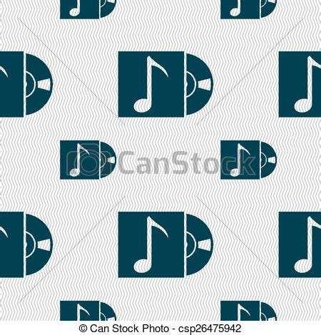 Cd Seamless Sl001 Free Size eps vector of cd player icon sign seamless pattern with